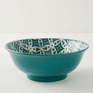 ANTHROPOLOGIE Moroccan Quorra Serving Bowl